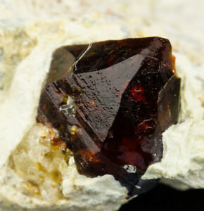 4-034-Red-CLINOHUMITE-Terminated-Gem-Crystal-on-1-8-034-Matrix-Afghanistan-for-sale