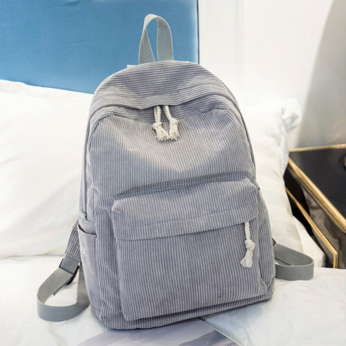 Women Backpack Casual School Bag Adjustable Stap Student Large Capacity Velvet