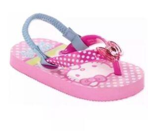 Hello Kitty Girls' Toddler Beach Flip Flops, Large 9-10