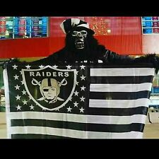 OAKLAND RAIDERS 3X5 RAIDER NATION FLAG BUY 2 FLAGS AND GET A FREE RAIDERS GIFT