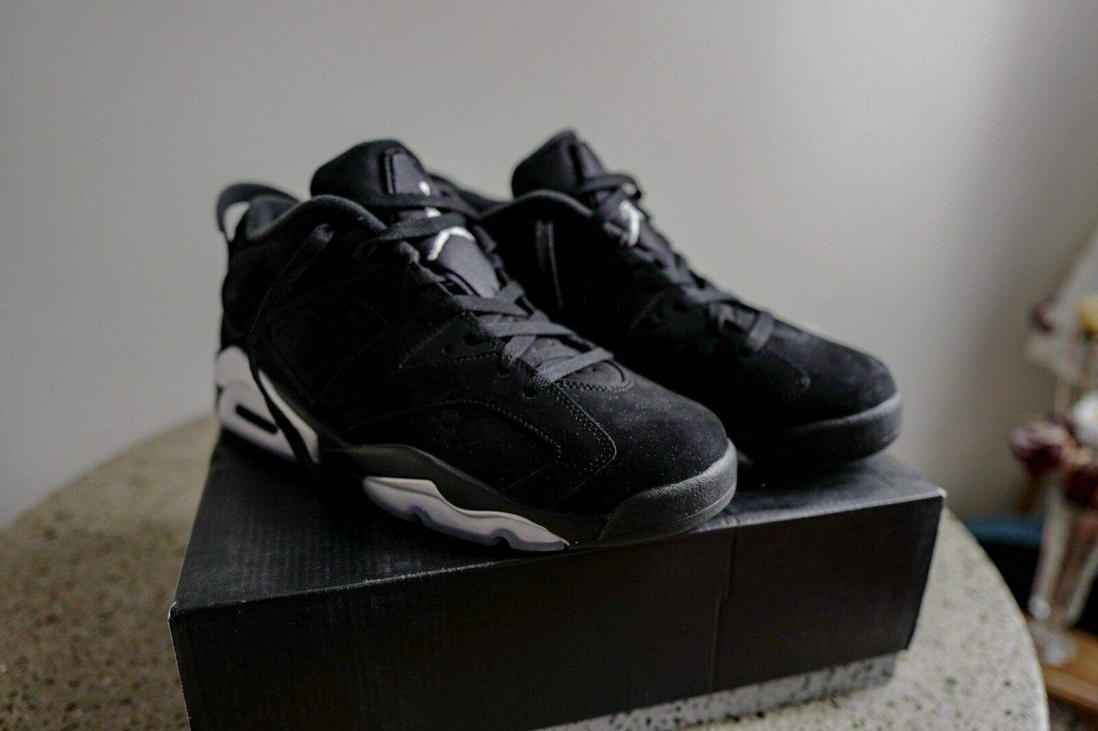 Nike Air Jordan 6 Retro Low Black Chrome Metallic Silver 304401-003 Comfortable Comfortable and good-looking