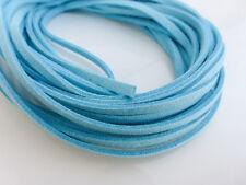 5m x 3mm Aqua Blue Finta Imitazione Pelle Scamosciata Cavo Tanga in Pizzo Perline Collana
