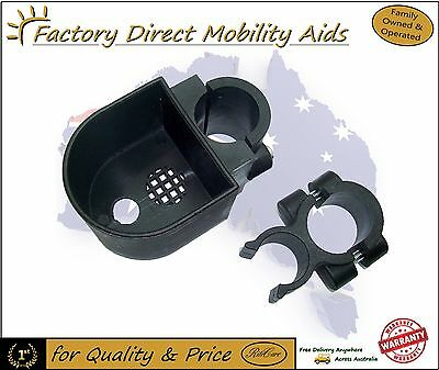 2 x Walking stick Cane holder for a Rollator / Walker .. Excellent products!