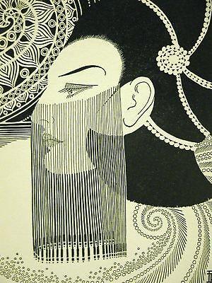 Don Blanding 1937 Lady Jeweled Veil Art Deco Print Matted Ebay