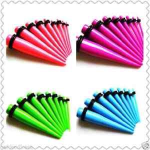 Acrilico-Fluorescente-Conici-Dilatatore-Stretcher-Plug-Piercing