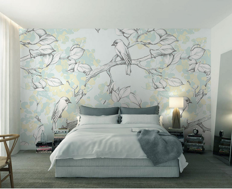 3D Cute Birds Trees 75 Wall Paper Murals Wall Print Wall Wallpaper Mural AU Kyra