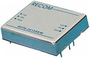 Vin 9-36V 1 x Recom RP20-2412SEW 20W Isolated DC-DC Converter Vout 12V DC@1.7A