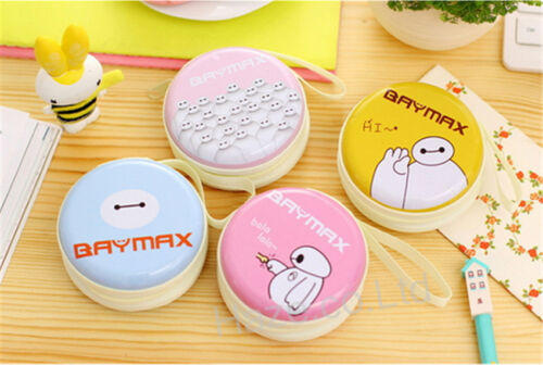 Big Baymax Cute Small Zip Coin Purse Headset Package Wallets Gift