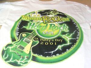 Hard-Rock-Cafe-NASHVILLE-2001-034-I-Got-ShamROCKed-034-ST-PAT-Tee-T-SHIRT-Mens-SMALL
