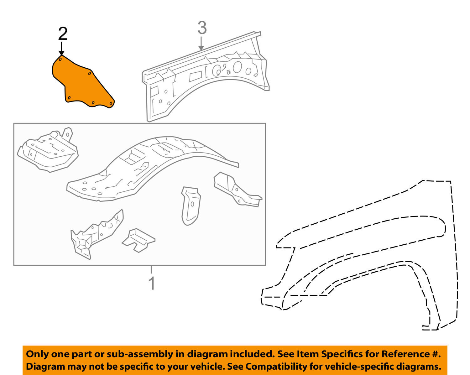 Genuine Toyota Apron Assembly Seal 53735-04070