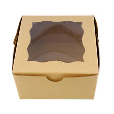 Spec101 Brown Bakery Boxes With Window 25pk Cake Boxes Party Favor Boxes