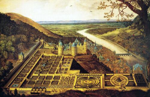 Large 12x18 German Heidelberg Castle Germany Painting Canvas Art Print