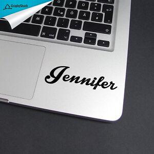 Pcs Name Trackpa Decal Customizable Custom Vinyl Sticker Macbook - Custom vinyl stickers macbook