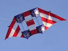 10.5ft wingspan Patriotic Double Box Delta with Flying Line