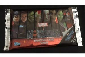 Topps-Marvel-Missions-Trading-Cards-50-Sealed-Packets-Of-8-Cards