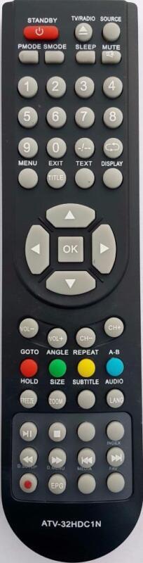 BAUHN REPLACEMENT REMOTE CONTROL -  ATV-32HDC1N  ATV32HDC1N  LCD TV