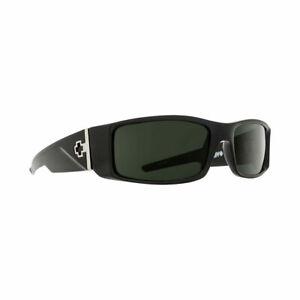a0a7fa3f32 SPY HIELO Sunglasses Black   Happy Gray Green Lens Polarized NEW ...