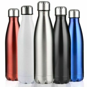 Stainless-Steel-Water-Bottle-Insulated-Metal-Sport-amp-Gym-Drinks-Flask-350-1000ML