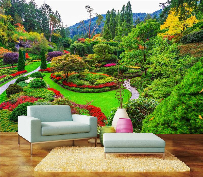 3D Blumenbeet Garden 8265 Tapete Wandgemälde Tapeten Bild Familie DE Lemon