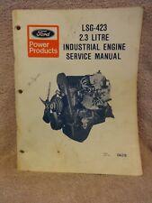 vintage ford lsg 423 1986 2 3l engine service shop manual ebay rh ebay com Ford Manual Shift Ford Escape Repair Manuals