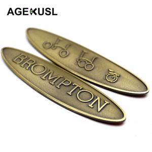 AGEKUSL Bike BWC Nameplate Badge Metal Frame Decal Stickers For Brompton Bicycle