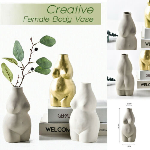 Nude Female Body Vase Ceramic Art Tabletop Flower Pot Nordic Modern Home Decor