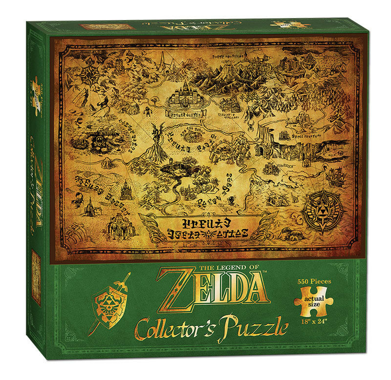 Legend of Zelda, The: Map of Hyrule - Collector's 550 Piece Jigsaw Puzzle (new)