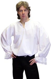 Pirate//Buccaneer//Steampunk//Gothic WHITE SHIRT frilled ace cuffs all Male Sizes