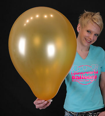 "5 x Qualatex 16"" Luftballons METALLIC GOLD *HOCHZEIT*MARRIAGE*BALLOONS*"