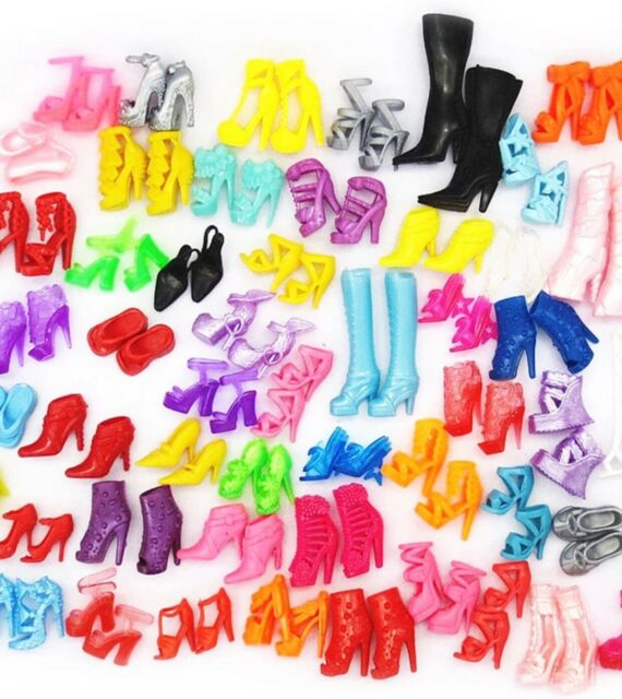 10 Pair 10 New Pairs Of Assorted Shoes US Seller Ships Today! Lot Barbie Shoes