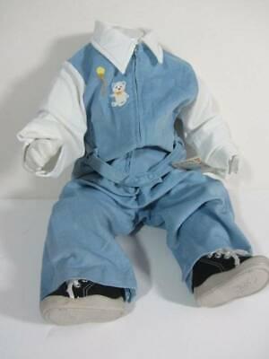Nuovo Con Etichette's Vintage Anni'70 Salopette Baby Blue Cavo Di Cotone Età 6 Mesi A 18 Mesi Eco-mostra Il Titolo Originale Brividi E Dolori