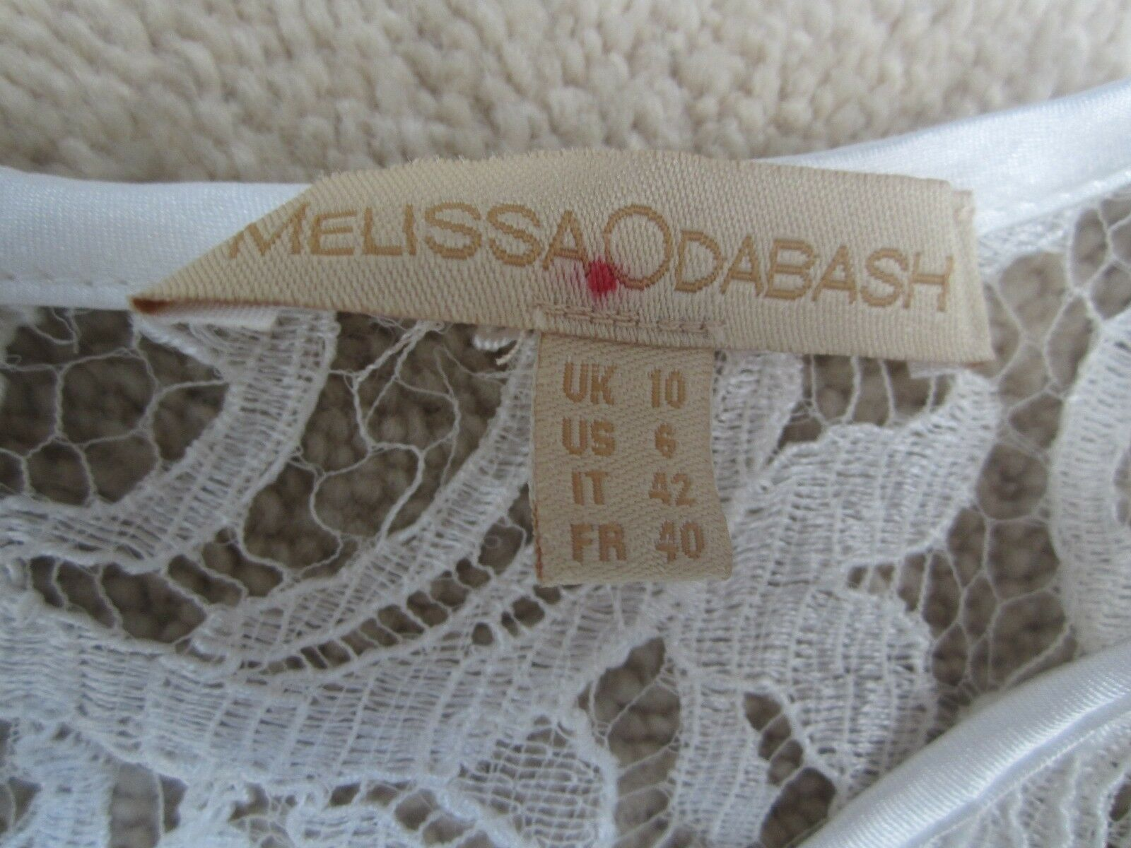 Melissa Odabash White Lace Dress - Size Size Size 10 3f7a00
