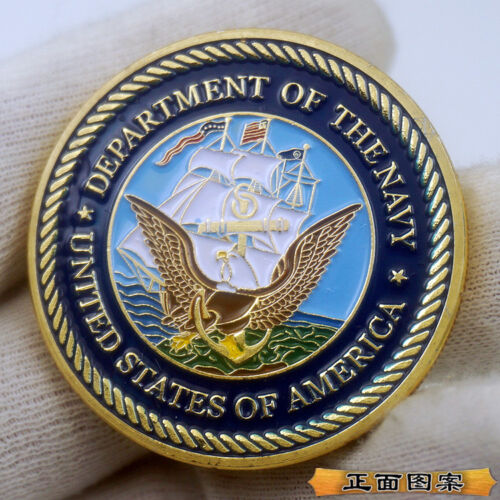 Department of The Navy United States America Challenge Coin US Collectible Gift