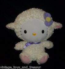"12"" BIG BABY TY HELLO KITTY AS EASTER LAMB SHEEP STUFFED ANIMAL PLUSH TOY SANRIO"
