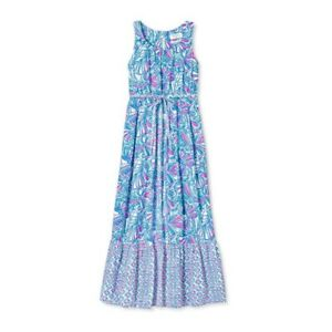 NWT-Lilly-Pulitzer-for-Target-Girl-My-Fan-Sleeveless-Maxi-Dress-L-10-12