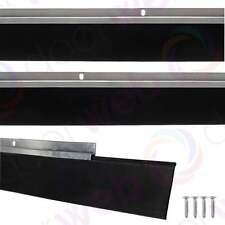 GARAGE DOOR DRAUGHT EXCLUDER Bottom Rubber Seal Strip Excluders Aluminium  2500mm