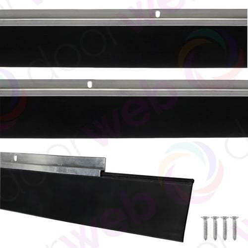 GARAGE DOOR DRAUGHT EXCLUDER Bottom Rubber Seal Strip Excluders Aluminium 2500mm & Stormguard Garage Door Rubber Seal 2500mm | eBay