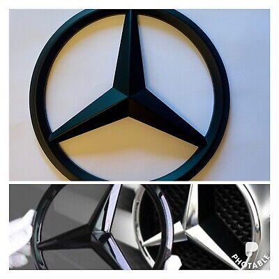 Mercedes-Benz A B C E GLA GLK CLA CLS ML Gloss Black Star Badge Emblem