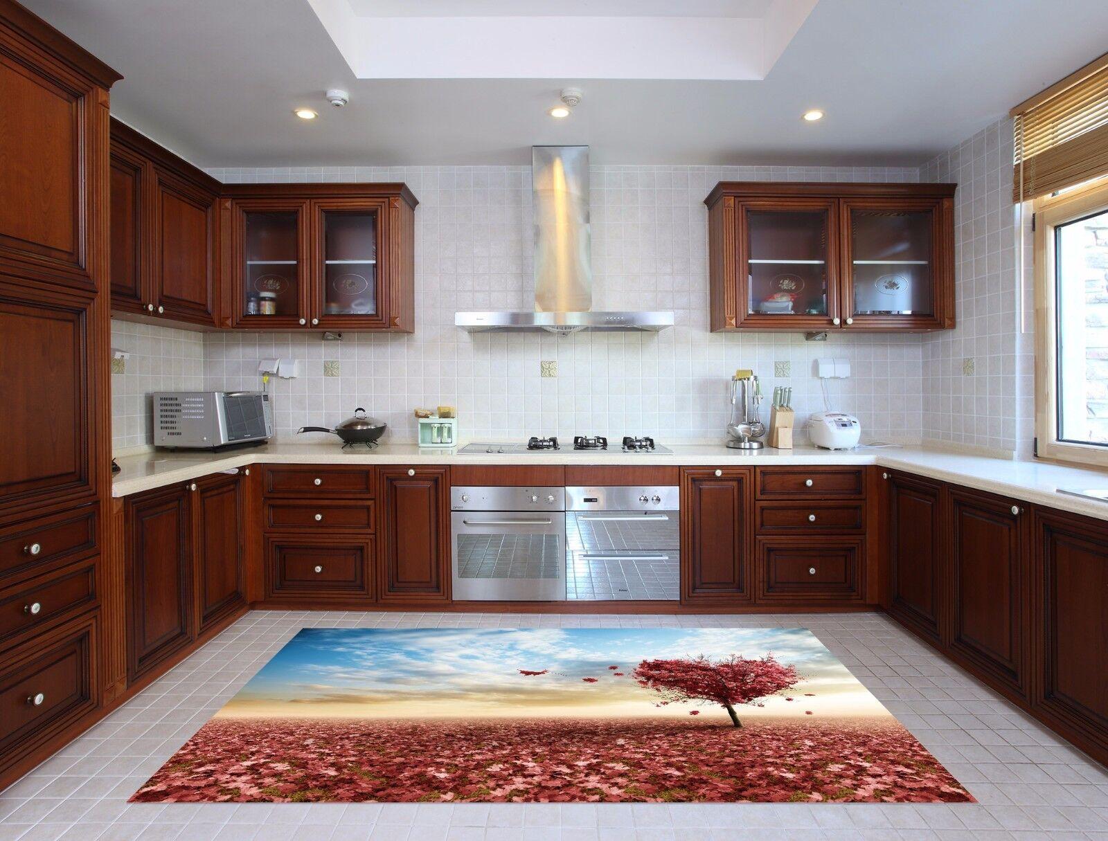 3D Sky Leaf Tree 6 Kitchen Mat Floor Murals Wall Print Wall AJ WALLPAPER AU Kyra