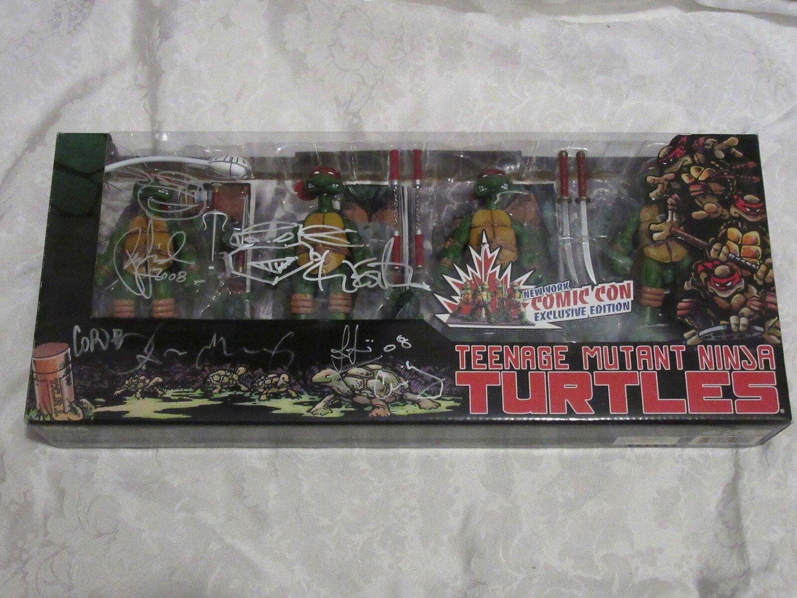 NECA Teenage Mutant Ninja Turtles Teenage Mutant Ninja Turtles signé 2008 NYCC Exclusif signé Sketch