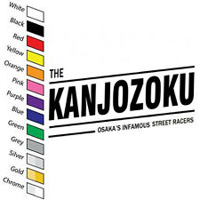 THE KANJOZOKU Osaka's Decal vinyl Sticker