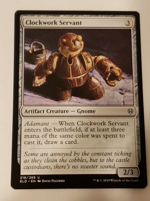 Clockwork Servant Throne of Eldraine Mtg Card Mint Condition   eBay