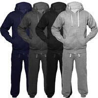 Boys Tracksuit New Kids Plain Hooded Jogging Bottoms And Hoodie Ages 2-13 Years