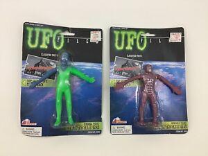 UFO-Files-Toy-Concepts-Bendy-Bendable-Alien-Figure-Lot-90s-Glow-In-Dark-Eyes