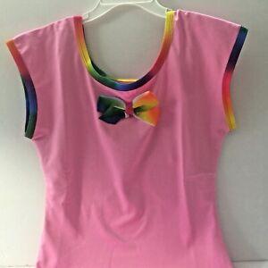 370168e39 Danskin Girls 12/14 Dance Leotard JoJo Siwa Pink Bow New | eBay