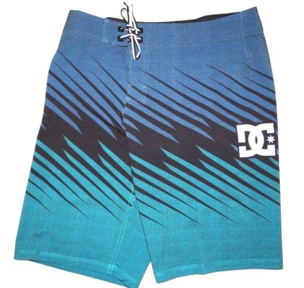 """100% Vero Dc Shoes Uomo Predatore 22 """" 4 Vie Elasticizzato Nuoto Surf Shorts Boardshorts"""