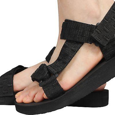 Para mujeres Damas Verano Tiras De Tela Casual Zapatos Sandalias Suelas De Espuma Talla 3-8