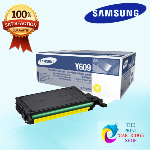 New & Original Samsung CLT-Y609S Yellow Toner Cartridge CLP-770ND CLP-775ND 5K