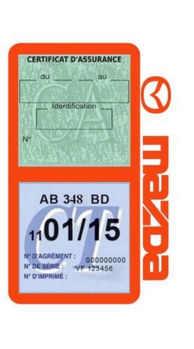 Etui porte assurance Mazda double pochette adhésif voiture Stickers auto rétro