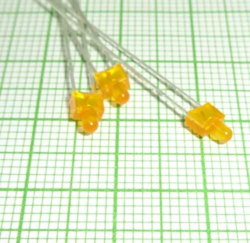 10 Stück Orange Led + Widerstand 2mm, diffused , gerundet E127c
